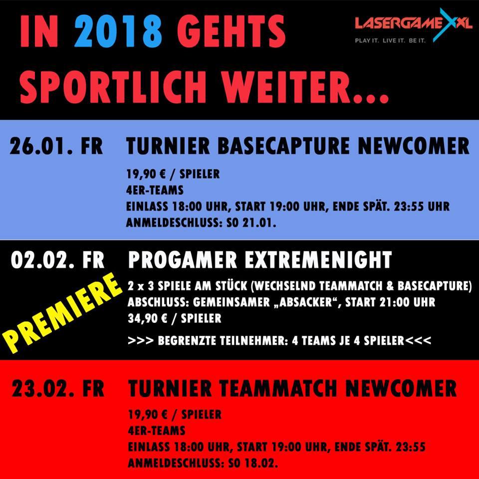 Lasergame XXL Lasertag Turnier