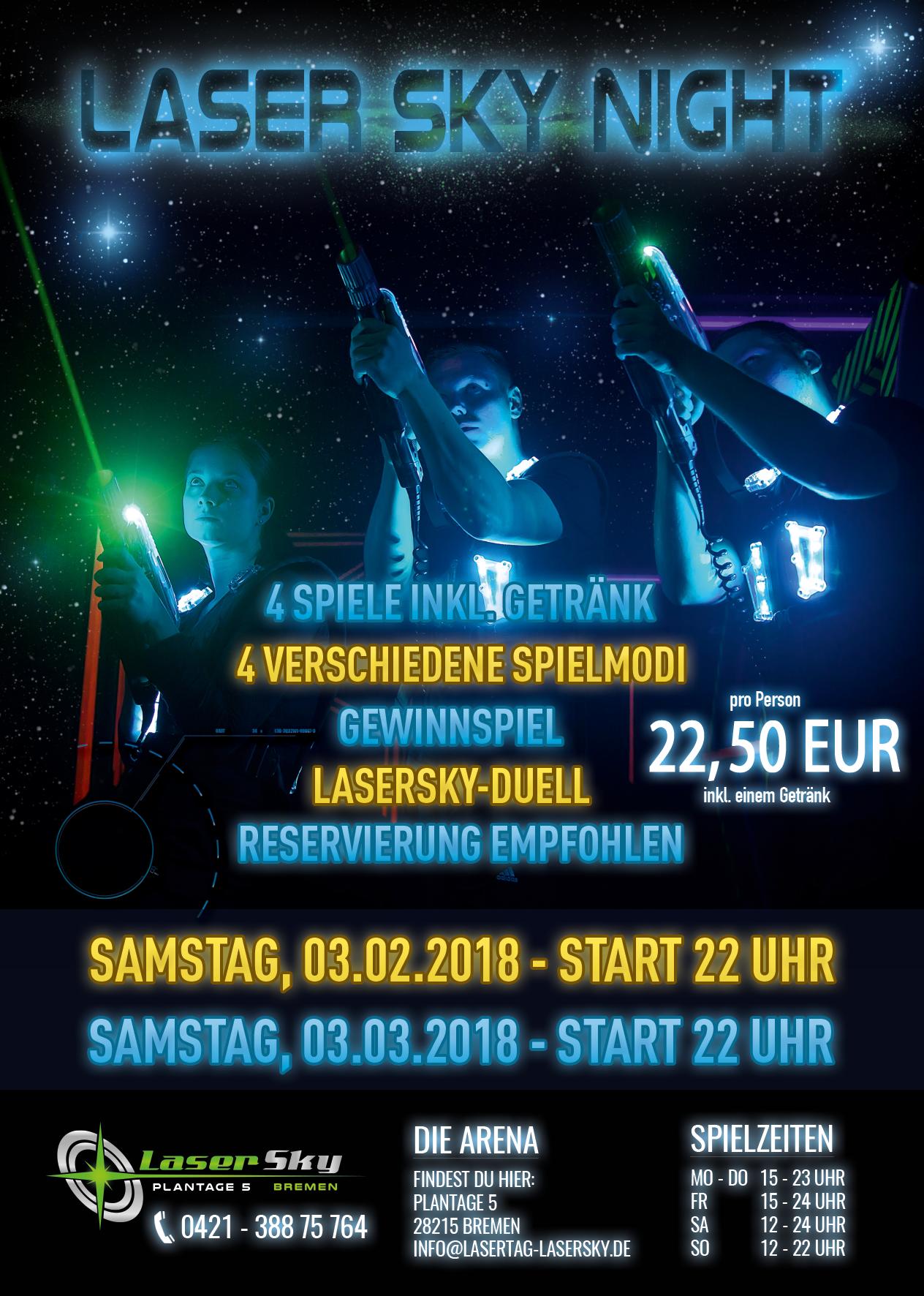 Laser Sky Night Lasertagfans